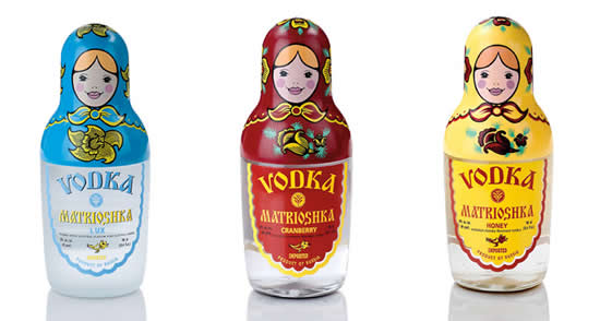 Happy times begin with Vodka Matrioshka Lux