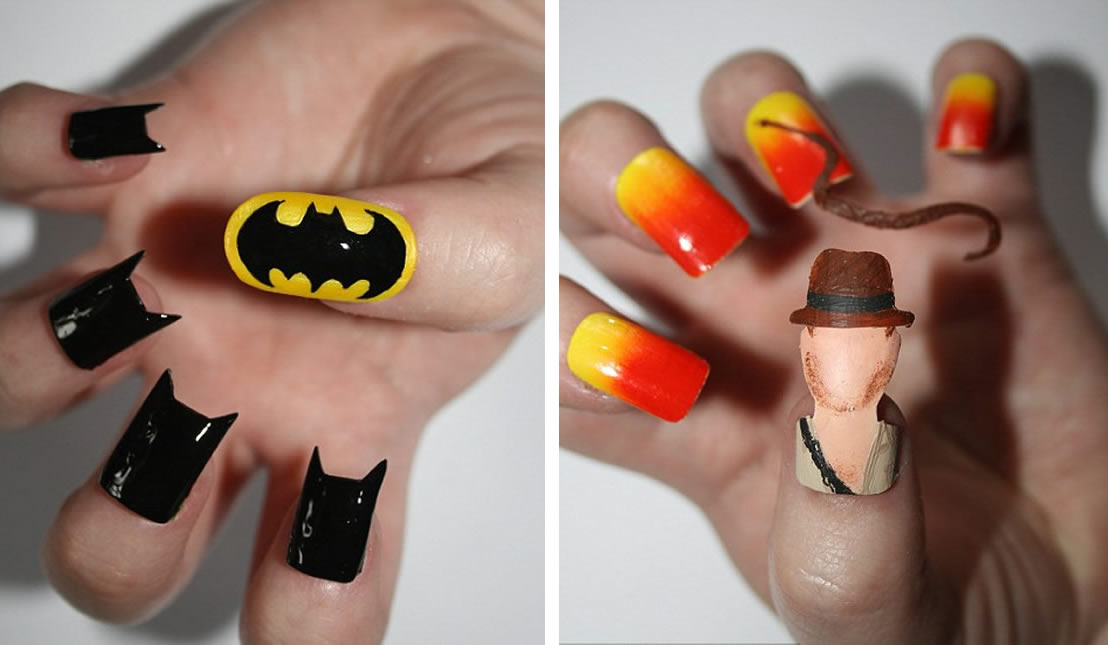 Kayleigh O'Connor's awesome movie inspired nail art