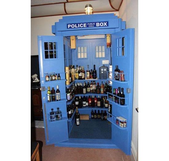 Tardis Liquor Cabinet Plans