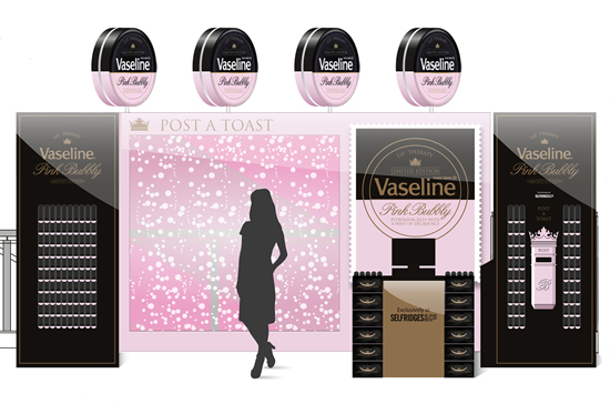 Champagne-inspired Pink Bubble limited edition tin-pack unveiled by Vaseline in UK