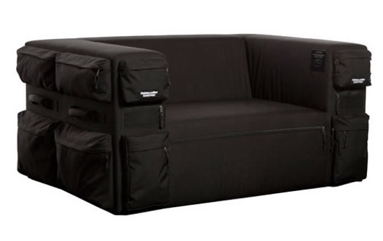 Backpack Couch accommodates your extra junk