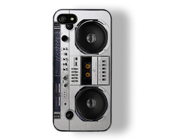 iPhone 5 Boombox Case is a groovy accessory