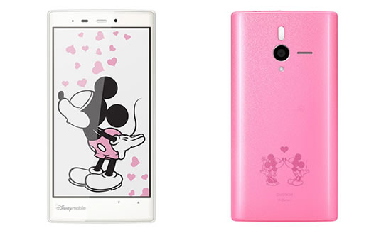 Disney-themed Android handset by Softbank