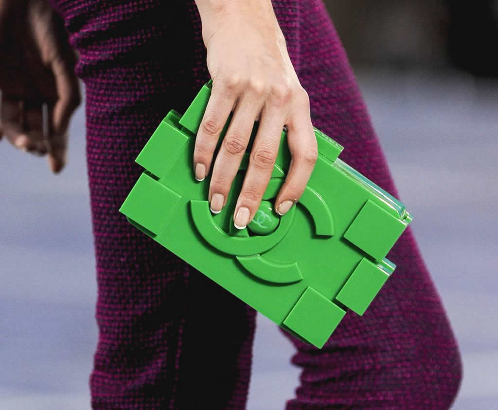 Karl Lagerfeld surprises with Lego Clutches for Chanel