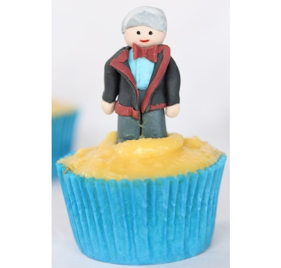 Doctor Who Cupcakes with all eleven Doctors