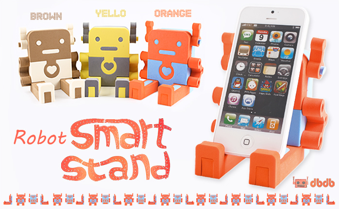 Foxjail Robot Smartphone Stand is both Fun and Functional