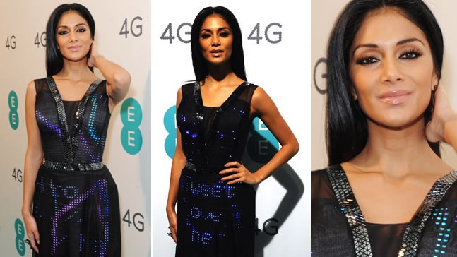 Nicole Scherzinger wears world's First 'Twitter' Couture Gown