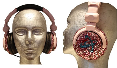 Atomic 9 DJ Headphones go Pink and Bling for Breast Cancer Awareness Month