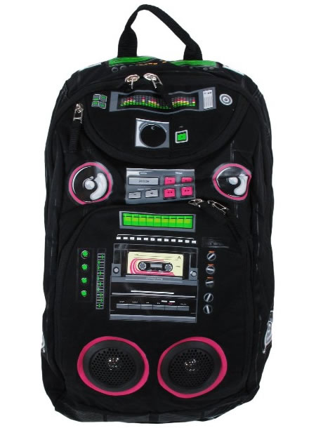 Presenting the eye-catching Audio Couture Backpack with Speakers