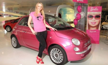 Barbie's Fiat 500 now comes to London, decked with crystals and Pink Lipstick