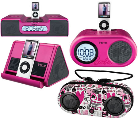 Barbie iHome Speakers are cute in pink