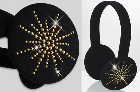 Crystal Star Earmuffs give your ears a warm and rich look