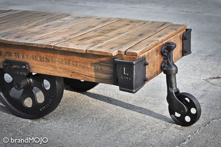 Factory Cart Coffee Table Is Vintage Expensive And Coveted