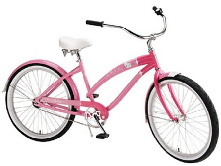 "Hello Kitty Ladies 26"" Retro Cruiser is ideal spring time jaunts"