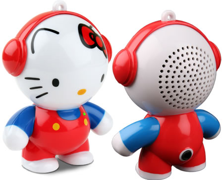 Hello Kitty speaker belts out your favorite music