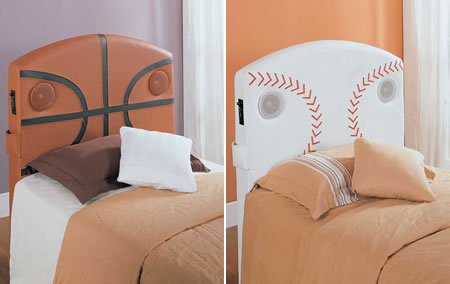 Homelegance Speaker Headboard- Kids will never be late for school