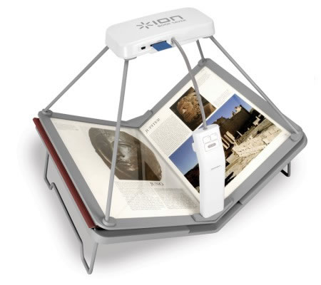 Ion Audio's Book Saver Book Scanner is Fast! Scans 200 page books in 15 Mins