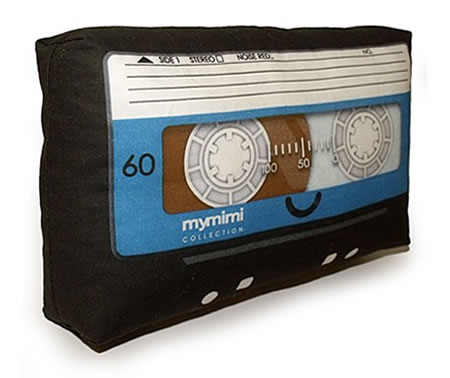 Bring the Adorable Mymimi Black Cassette Mini Pillow Home