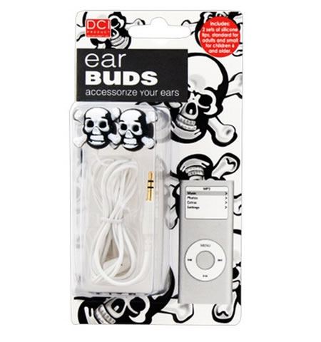 Skull Ear Buds add on to your Halloween look