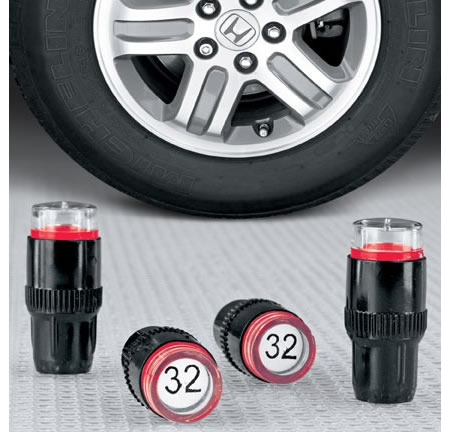 Tire pressure caps helo save fuel and drive safer