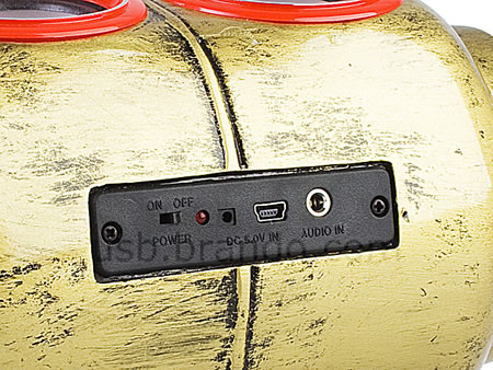 USB L.P. Gas = MP3 Player + Portable Stereo Speaker