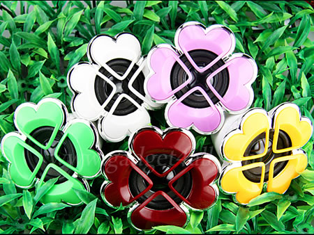Lucky Clover USB Speaker is cute and colorful