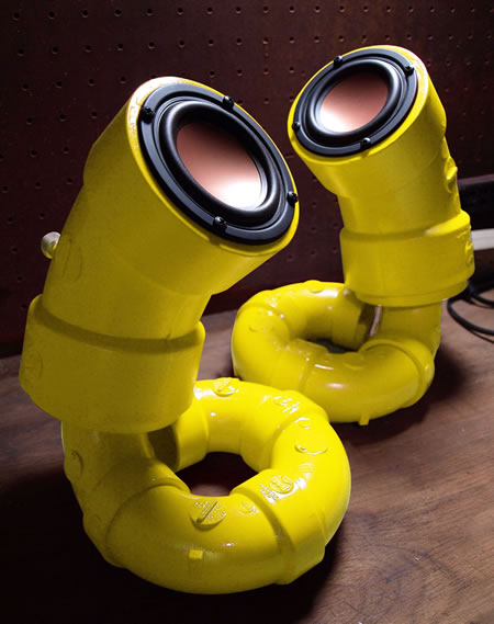Yellow Sea Horses Audio Speakers by Ikyaudio!