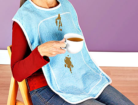 Clumsy Souls need this Adult Bib