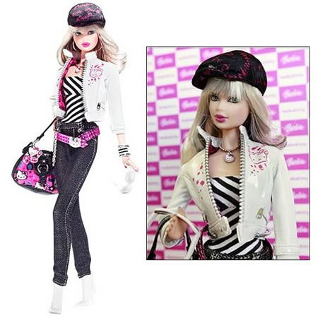 Barbie dressed in Hello Kitty
