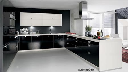 black and white kitchens by kitchenideas hennyskitchen - Black And White Kitchen Pictures