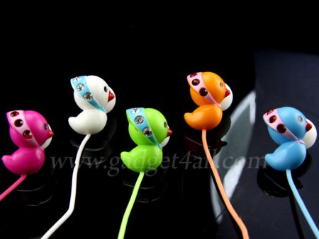 Bling Bling Duckling Earphones are super cute