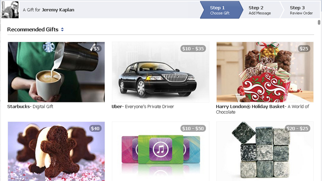 Facebook Debuts new Gifts feature in time for the holiday season