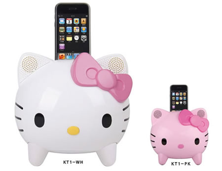 Hello Kitty Speaker iPod Dock KT1 rocks out tunes