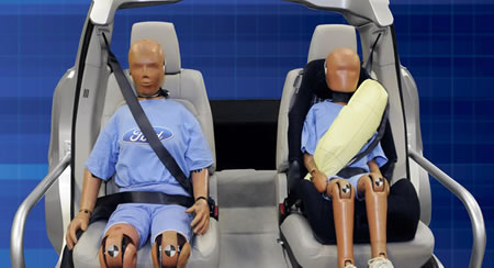 World's first inflatable seat belts are here by Ford