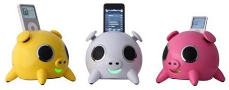 iPig speaker system by Speakal are cuter than cute for your iPod!