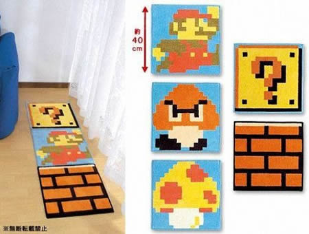 Super Mario Bros Dot Design Mat spruce up your floor