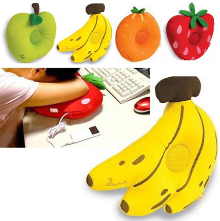 Musical fruit pillows that are scented