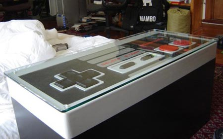 NES controller that doubles as a coffee table