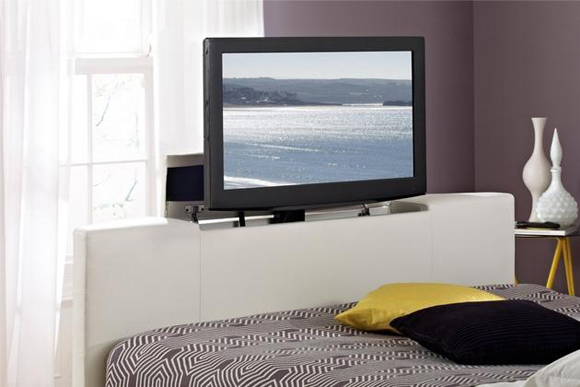 Atlantis leather Ottoman TV Bed is all Luxury and Comfort
