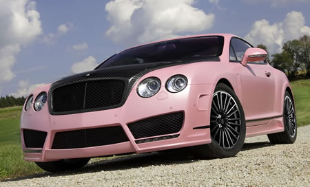Pretty pink Bentley Vitesse Rose to steal every girl's heart