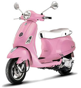 Vespa LX comes in pretty pink for the ladies