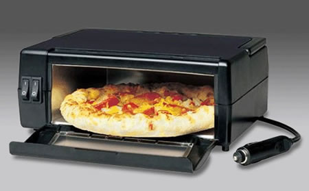 Porta Pizza oven will satisfy your pizza cravings in the car