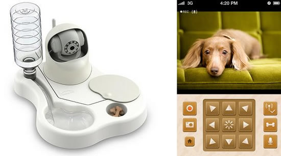 Remoca Dog Food Bowl Camera Feeds Pets in Your Absence