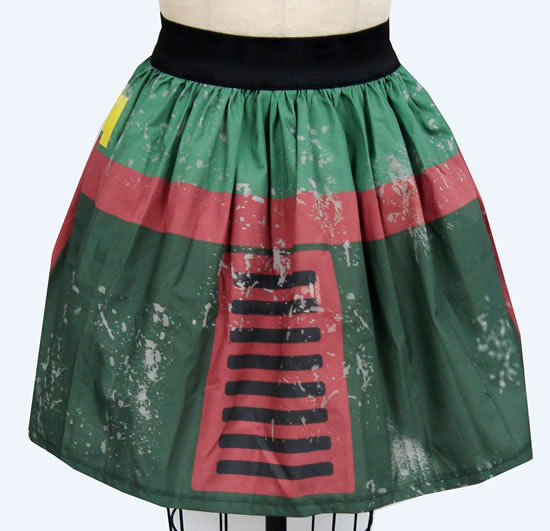 The Printed Bounty Hunter Inspired Skirt makes a geeky statement