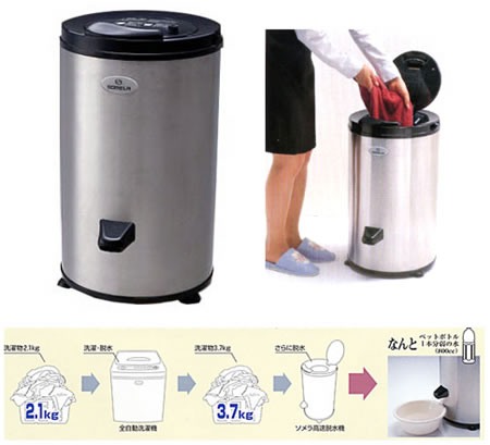 Japanese Fast Dehydrator does laundry in an archaically futuristic way