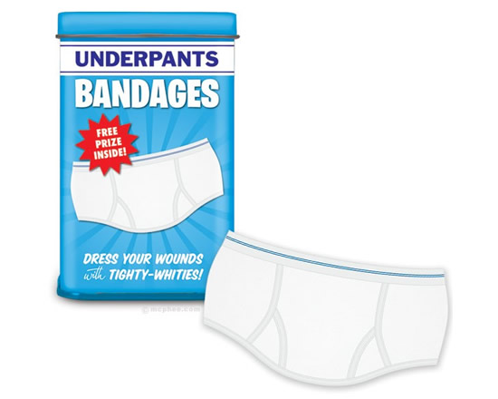 The Underpants Bandages protect all your ouchies and boo-boos