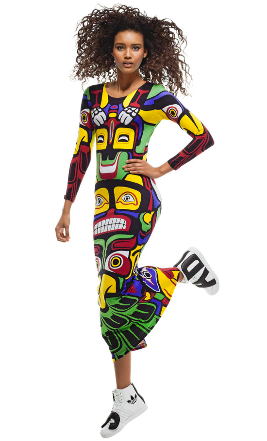 It's Totem Poles for Adidas and Jeremy Scott's Eagle line Spring 2013 collection