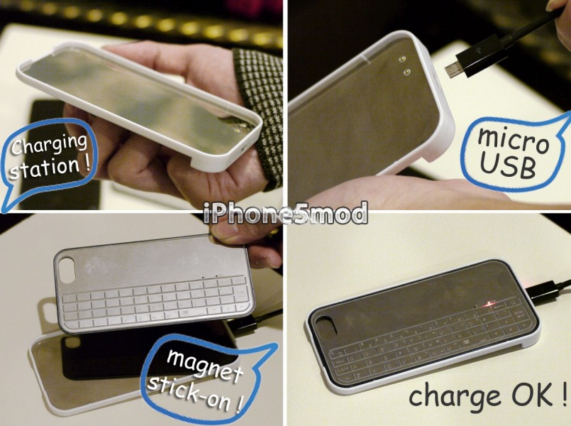 Ex Hybrid iPhone 5 Case Stacks Magnetic Keyboard & Gamepad