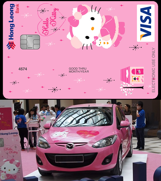 Win a Hello Kitty Mazda 2 Hatchback with Hong Leong Bank's Hello Kitty Debit Card
