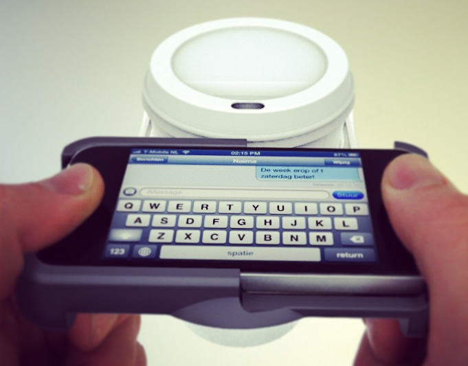 Uppercup iPhone Case comes with a Built in Cup Holder